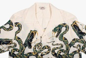 shirt,snake,snake print,button up,aesthetic,tumblr,edgy,white,white button up top