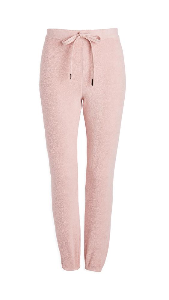 Stateside Sherpa Sweatpants in pink