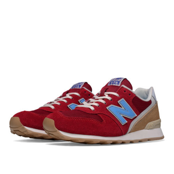 New Balance 696 Lakeview Women's Running Classics Shoes - Red/Light Blue/Tan (WL696HF)