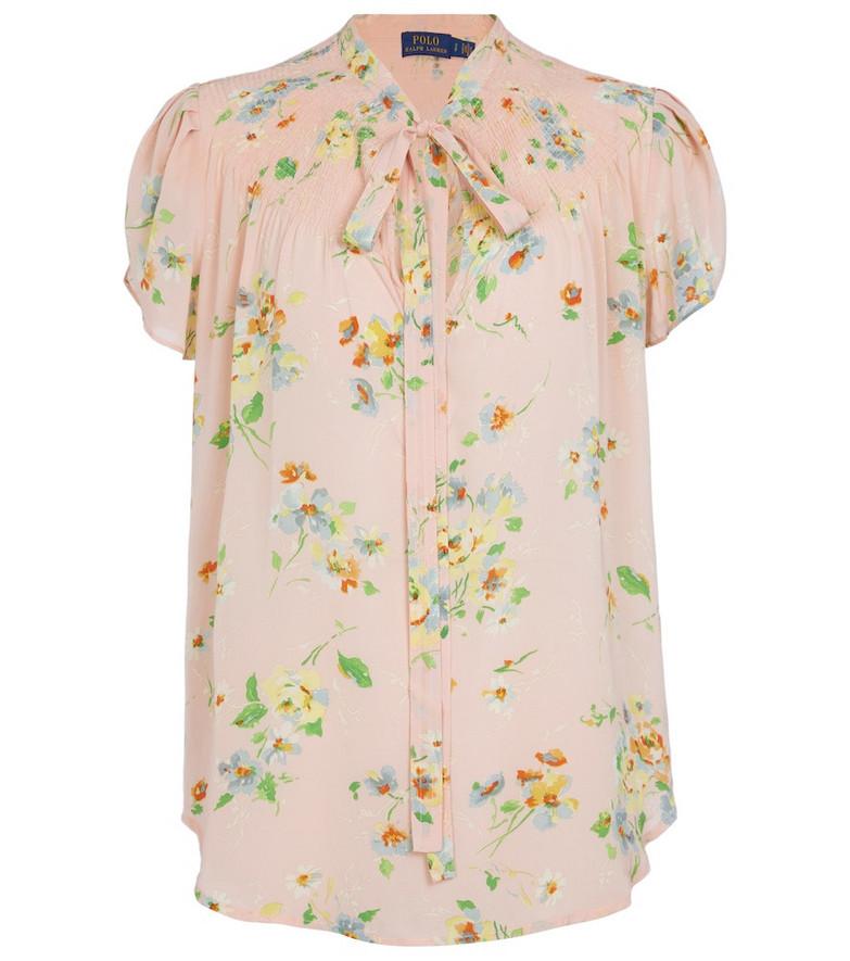 Polo Ralph Lauren Floral tie-neck top