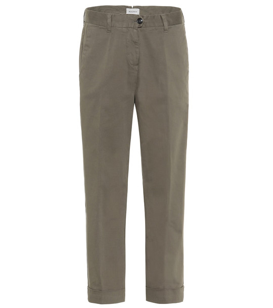 Woolrich Stretch-cotton mid-rise pants in green
