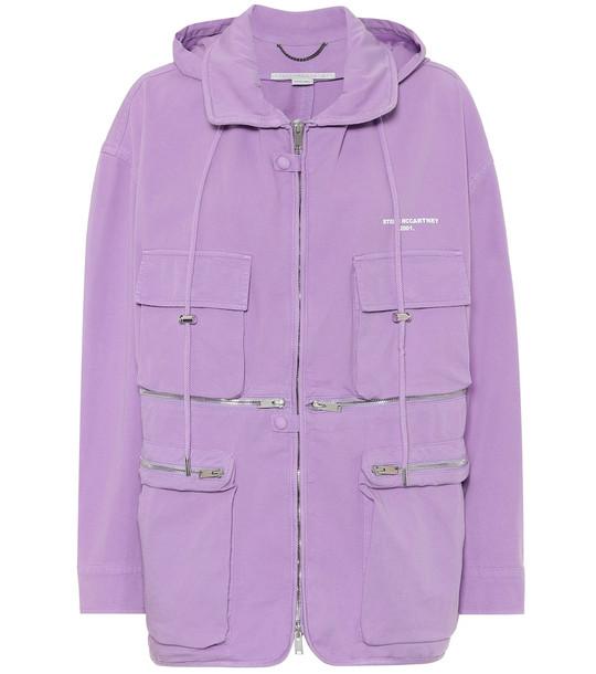 Stella McCartney Janessa stretch-cotton jacket in purple