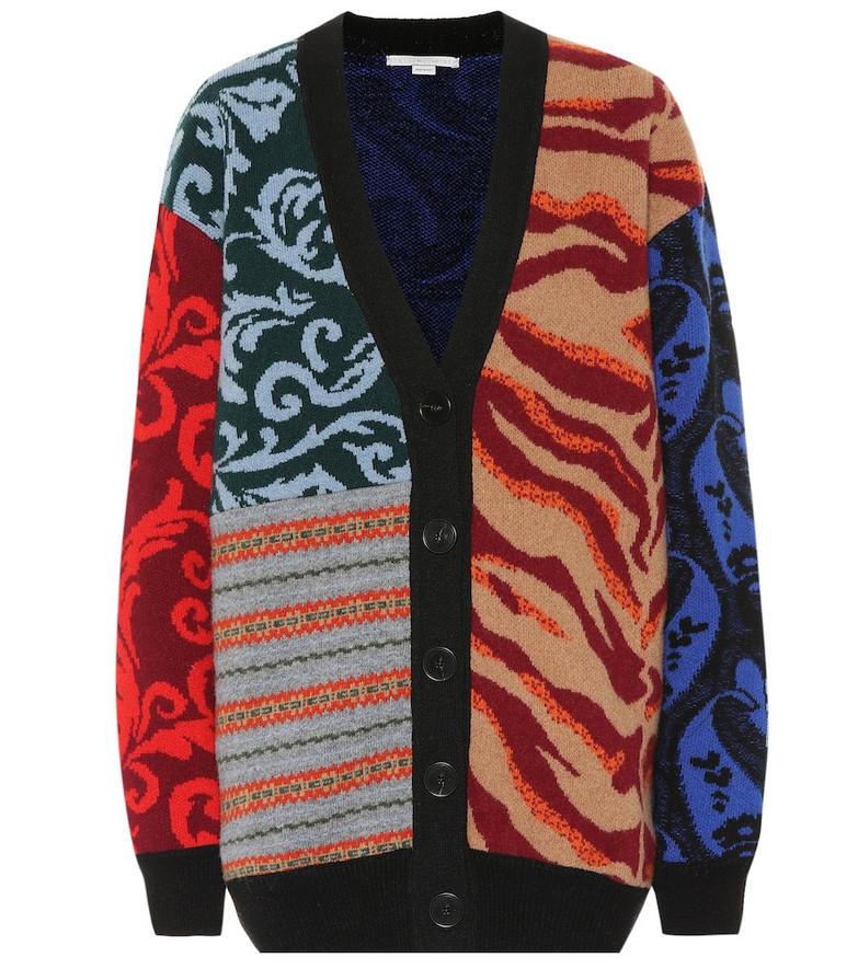 Stella McCartney Jacquard wool cardigan