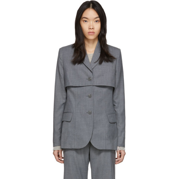 Eckhaus Latta Grey Abbreviated Blazer