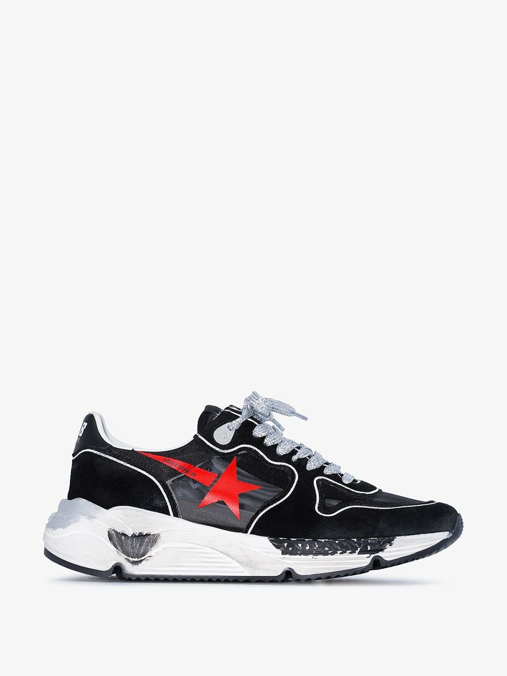 Golden Goose Deluxe Brand Golden Goose Black, Red and White Donna suede sneakers
