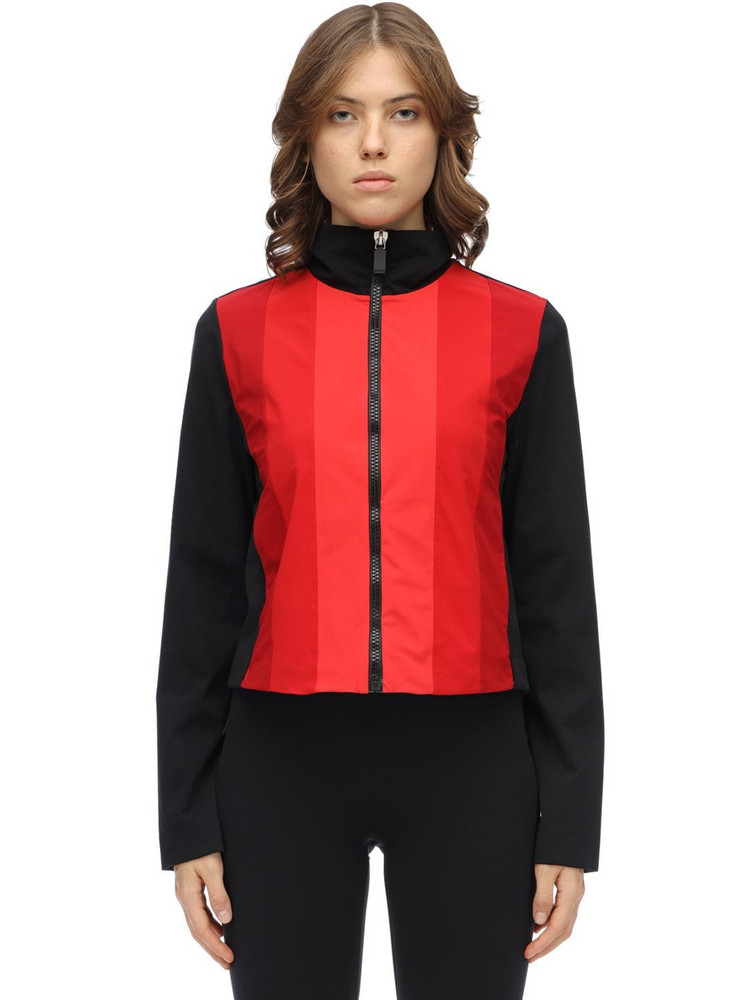 NO KA'OI Powerhouse Zip-up Techno Top in black / red