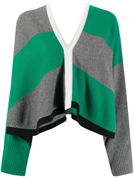 Hermès pre-owned cropped knitted jumper in green
