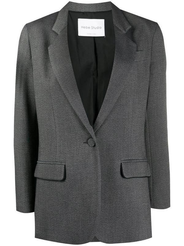 Hebe Studio single-breasted blazer in grey