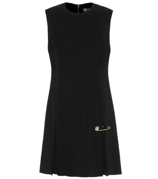 Versace Safety Pin crêpe minidress in black