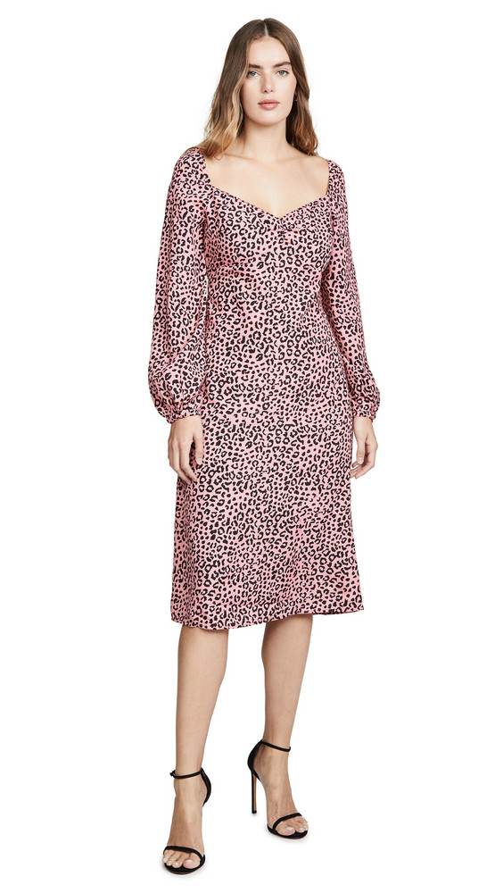 re:named re: named Amanda Leopard Midi Dress