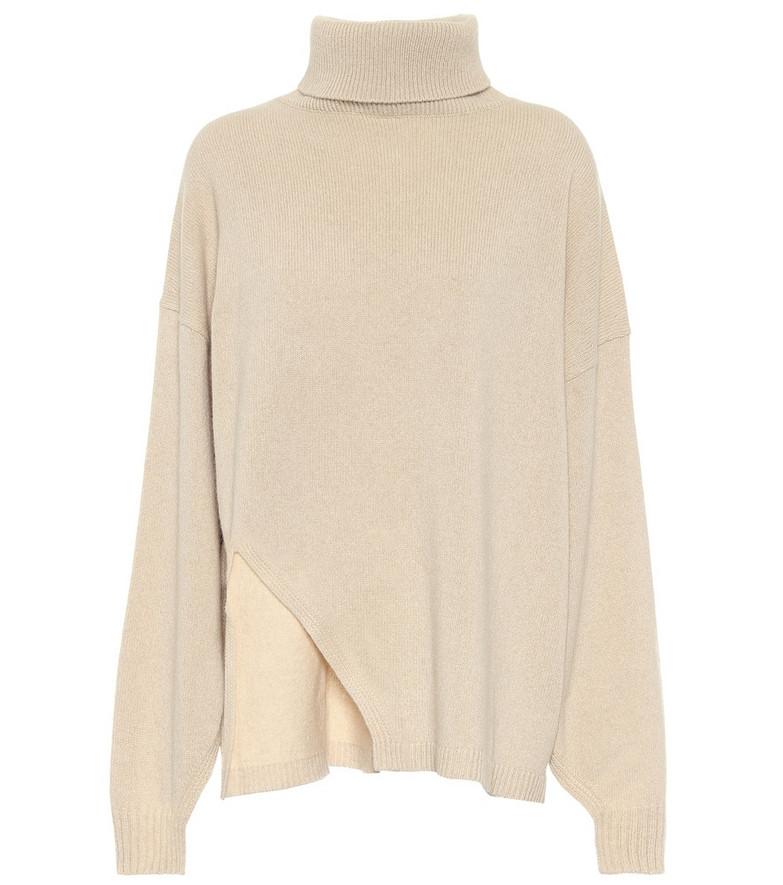 Tibi Cashmere and wool cape sweater in beige