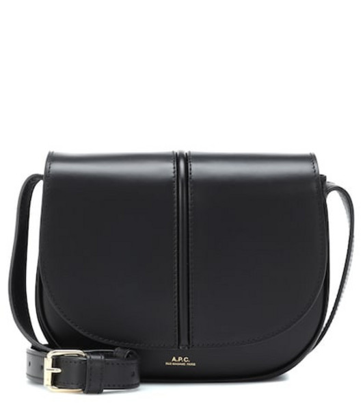 A.P.C. Betty leather crossbody bag in black