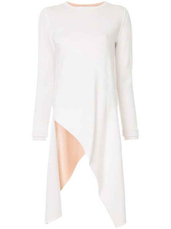 Rosetta Getty asymmetric pointed jumper in white