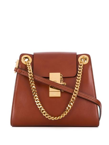 Chloé mini Annie shoulder bag in brown