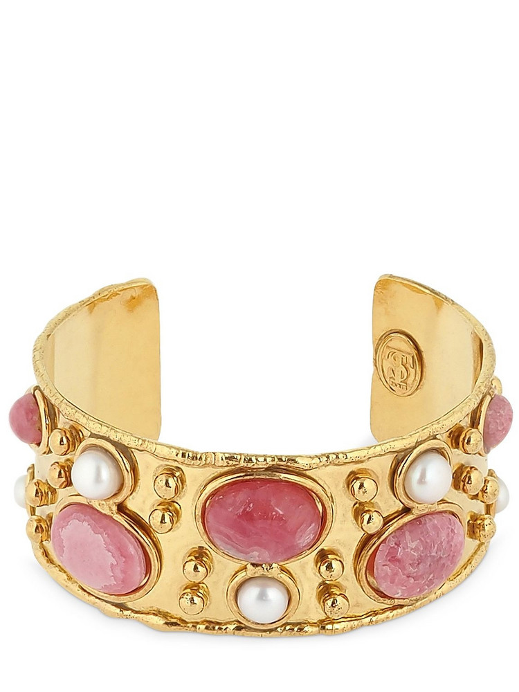 SYLVIA TOLEDANO Byzance Cuff Bracelet in gold / pink