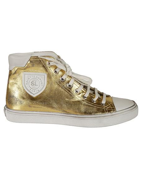 Saint Laurent Bedford Patch Sneakers in nero