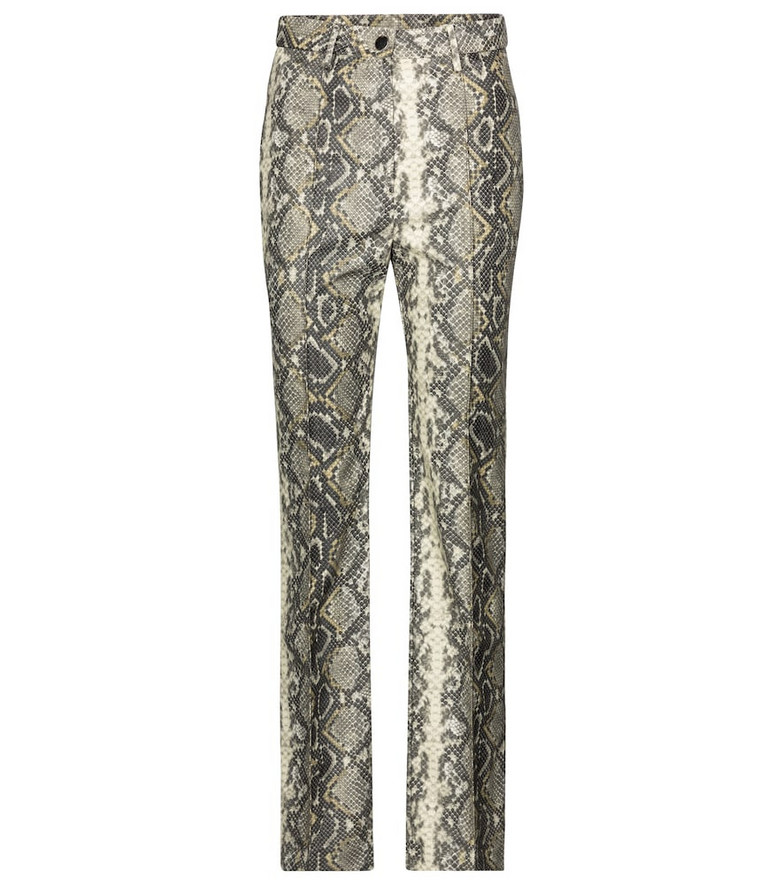 ROTATE BIRGER CHRISTENSEN Robyn snake-effect faux leather pants in grey