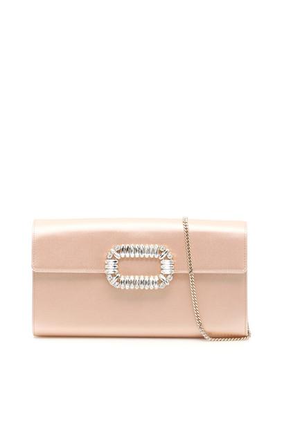 Roger Vivier Envelope Clutch in pink