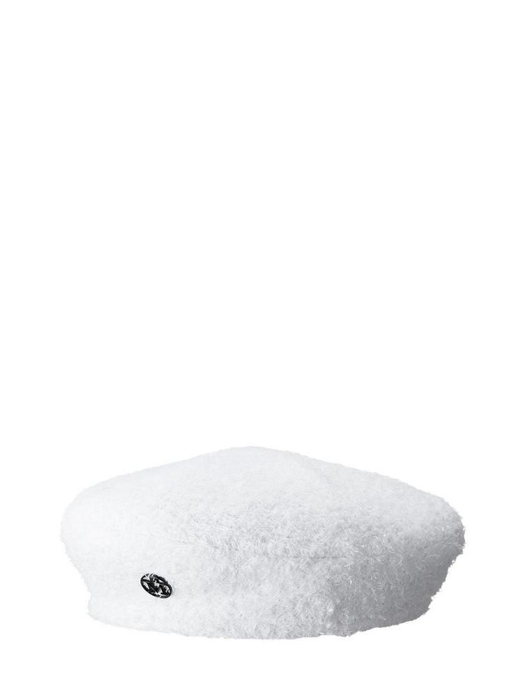 MAISON MICHEL New Billy Reversible Cotton Blend Hat in black / white