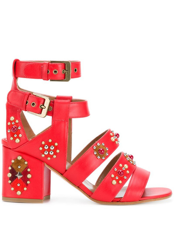 Laurence Dacade studded strap sandals in red