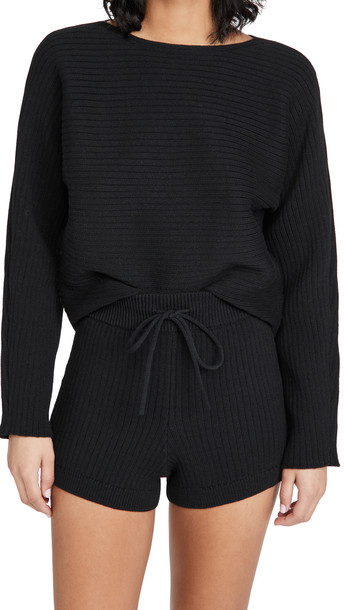 Reformation Cort Short Sweater and Shorts Set in black