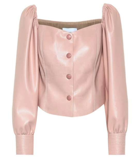 Nanushka Exclusive to Mytheresa – Irene faux leather top in pink