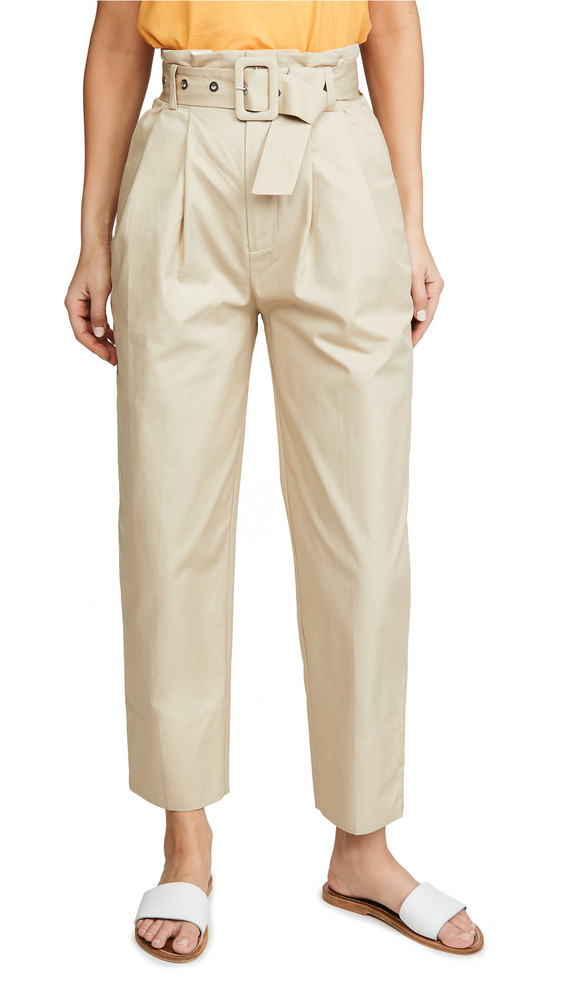 Edition10 Paperbag Waist Trousers in sand