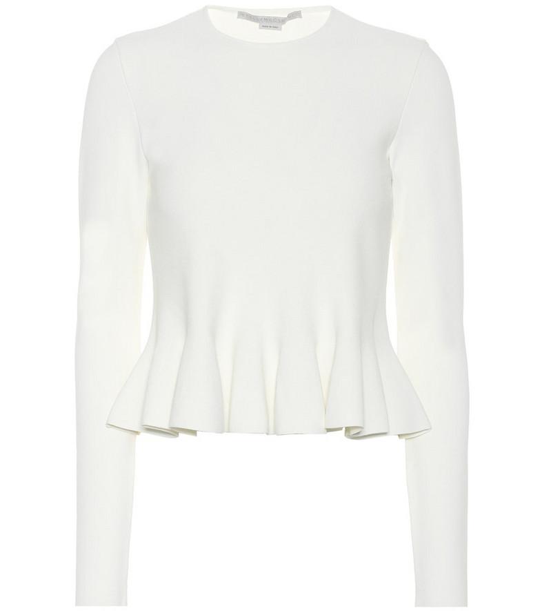 Stella McCartney Peplum top in white