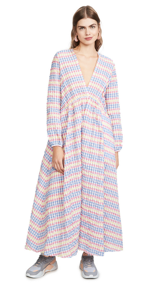 Mira Mikati Deep V Maxi Dress in multi