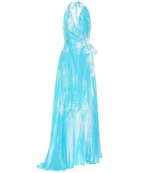 Anna Kosturova Exclusive to Mytheresa – tie-dye silk maxi dress in blue