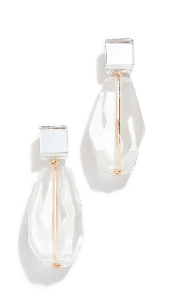 Diana Broussard Cris Earrings in transparent