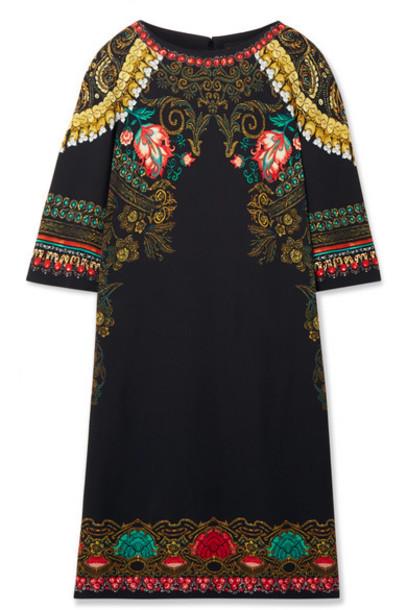 Etro - Printed Crepe Dress - Black
