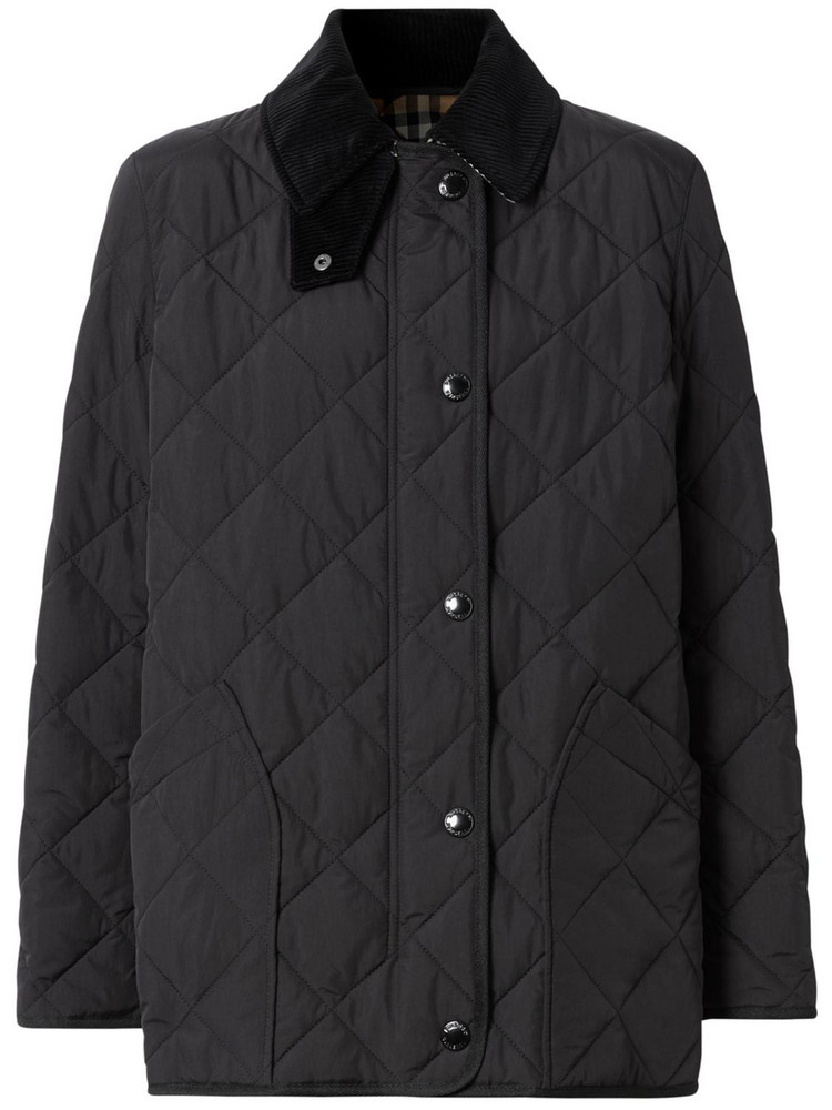 BURBERRY Cotswold Quilted Nylon Jacket in black