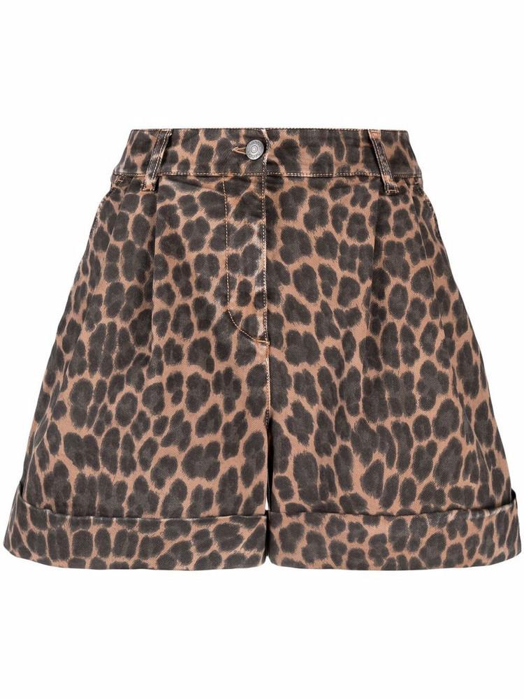P.A.R.O.S.H. P.A.R.O.S.H. leopard-print shorts - Brown