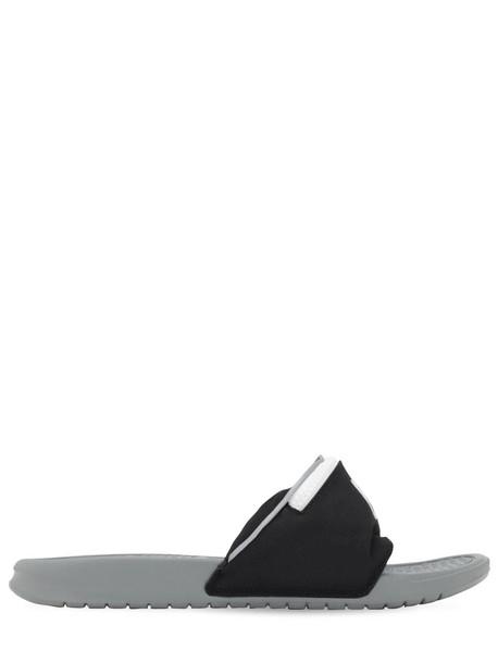 NIKE Benassi Jdi Slide Sandals in black / grey