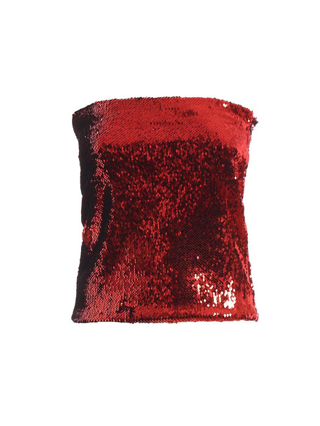 Alexandre Vauthier Red Sequined Mini Skirt