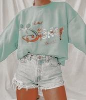 top,sweatshirt,crewneck,disney,vintage,cute