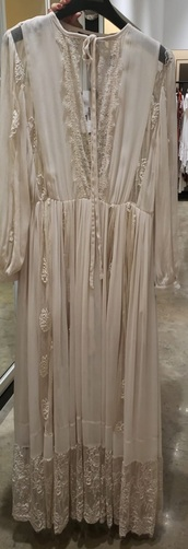 dress,nude dress,lace trim,special occasion dress,neutral,by malene birger