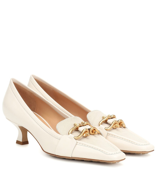 Bottega Veneta BV Madame leather pumps in white