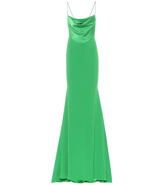 Alex Perry Clay crêpe dress in green