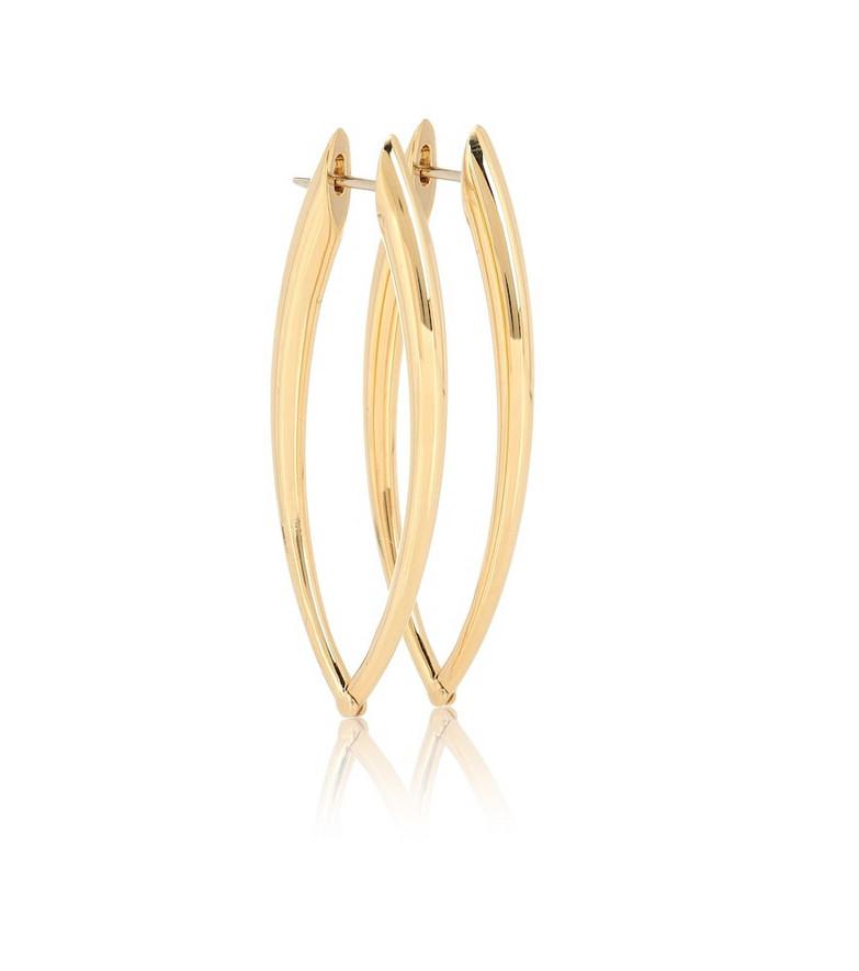 Melissa Kaye Cristina 18kt gold hoop earrings