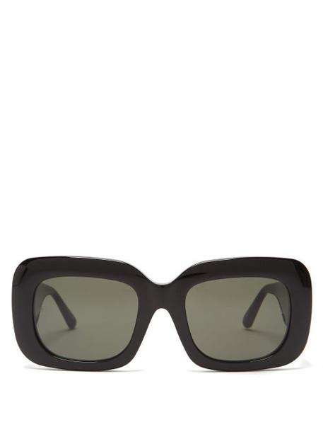Linda Farrow - Lavinia Square Acetate Sunglasses - Womens - Black
