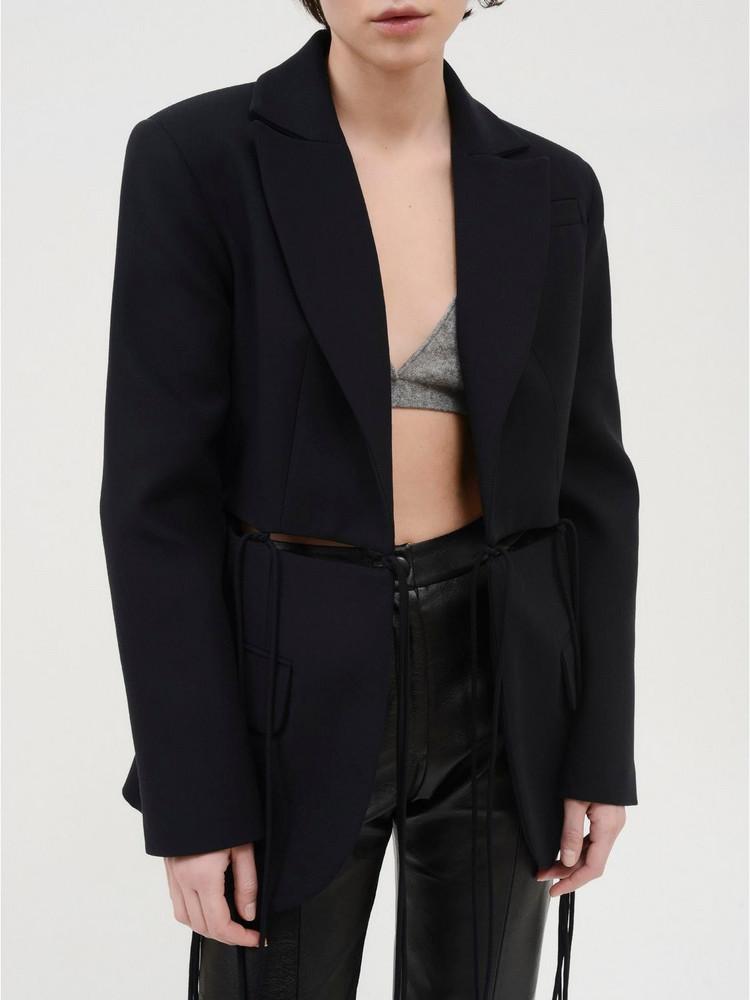 MATÉRIEL Single Breast Blazer W/ Cutouts in black