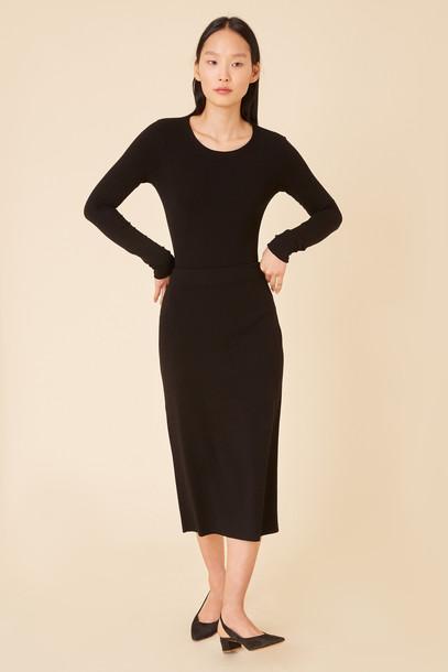 Mansur Gavriel Stretch Pencil Skirt - Black