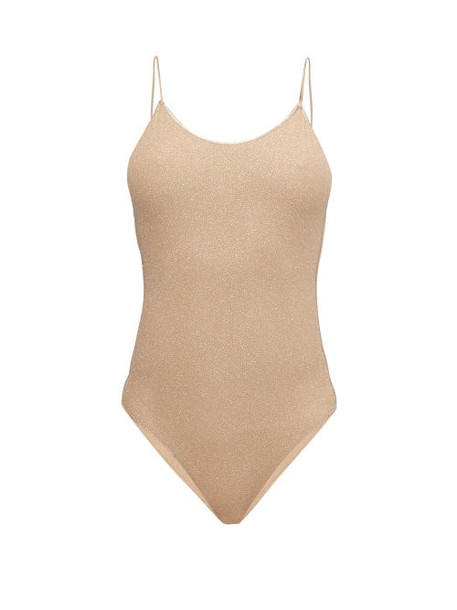 Oseree - Lumière Metallic Swimsuit - Womens - Nude
