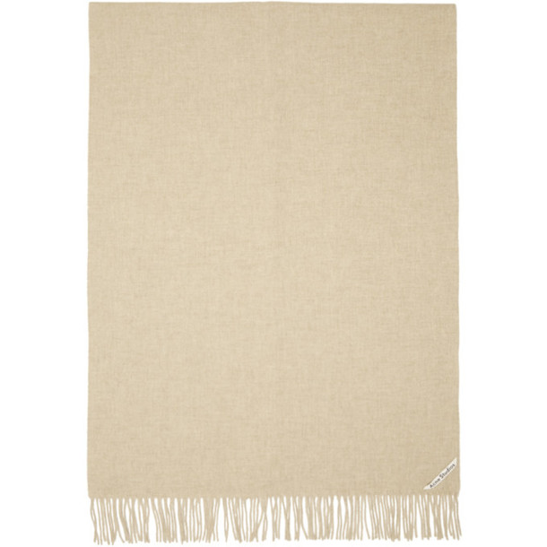 Acne Studios Taupe New Canada Scarf