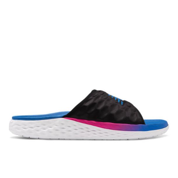 New Balance Fresh Foam Hupoo Men's Slides Shoes - Black/Pink/Blue (SMFTEKB1)