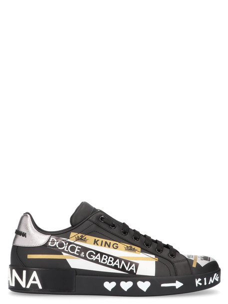 Dolce & Gabbana 'graffiti' Shoes in black