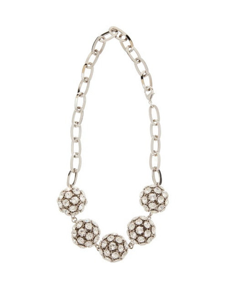 Alessandra Rich - Crystal Embellished Sphere Necklace - Womens - Crystal