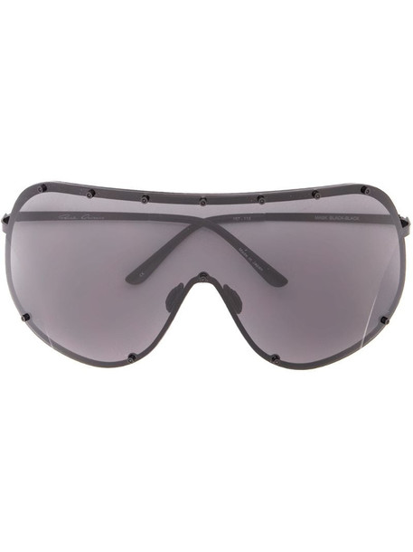Rick Owens Larry Shield sunglasses in black